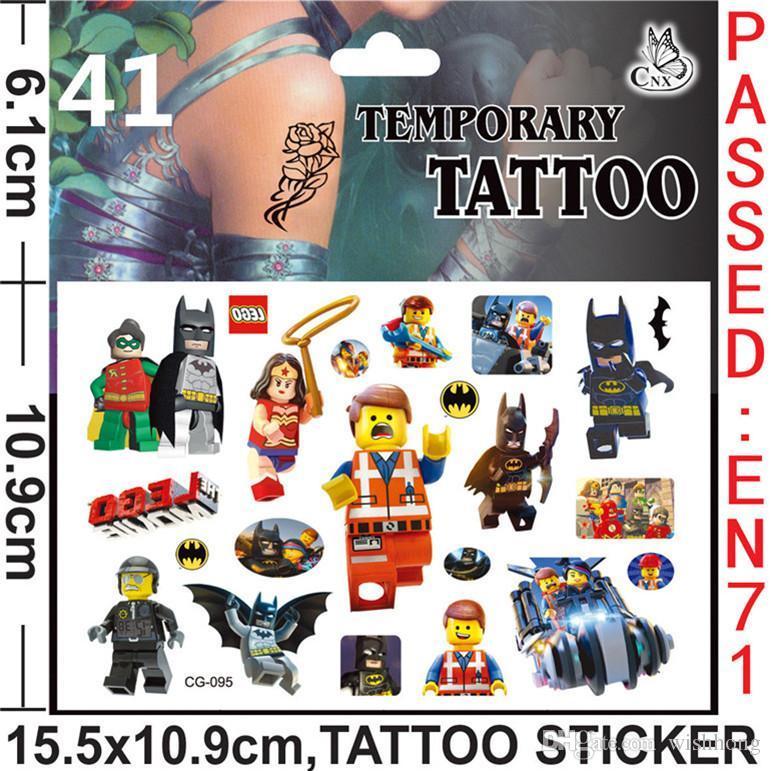 LEGO Tattoos Stickers LEGO Temporary Tattoos LEGO Body Tattoos Kids ...