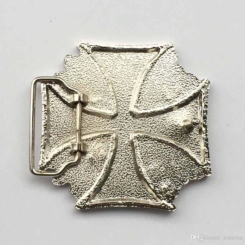 New Style High quality Square Clear Red Cross Belt Buckle SW-BY728 suitable for 4cm wideth snap on belt with continous stock