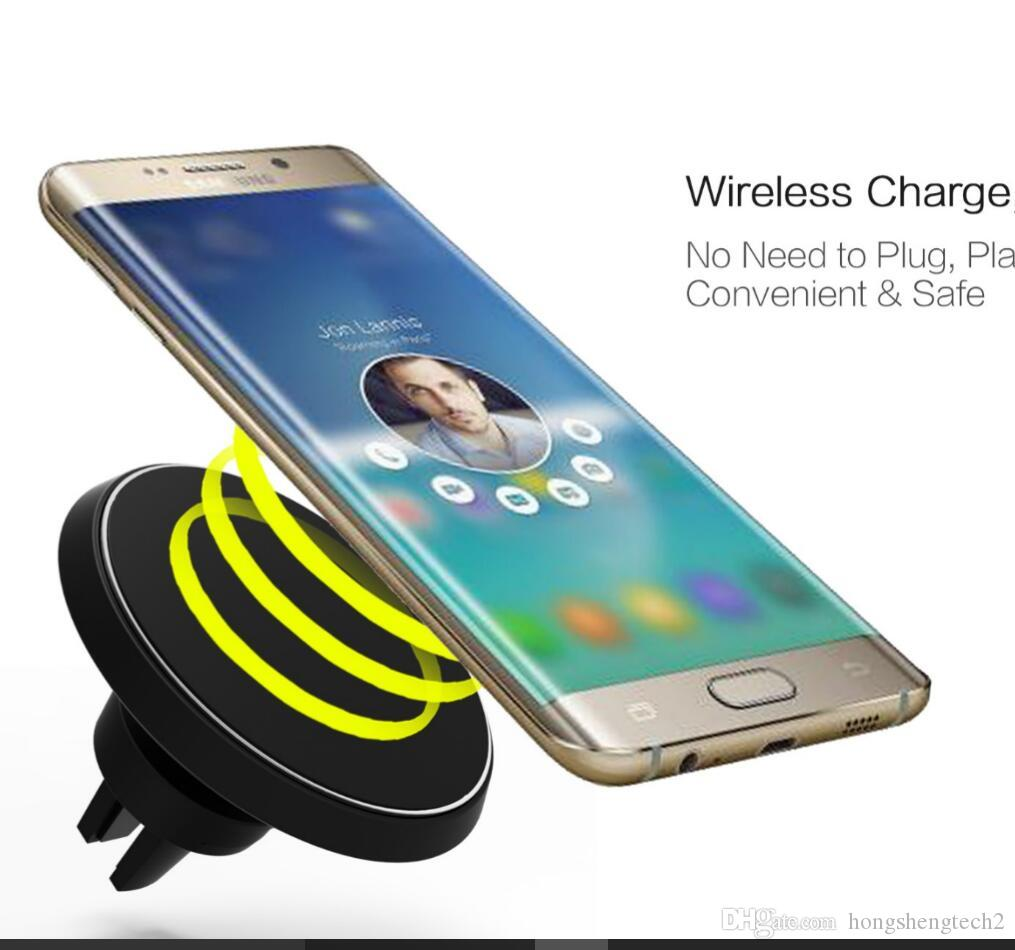 Car wireless charger with holder stand for iOS/Android/ mobile phone