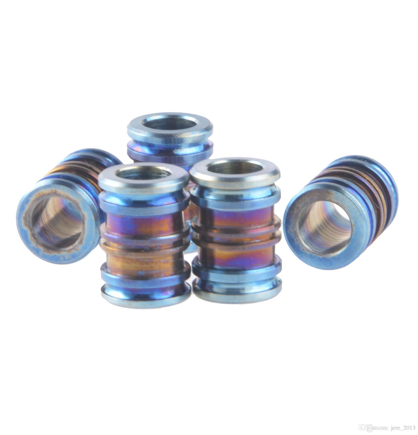 14mm titanio coltello chiave gioielli paracadute cavo anodizzato blu perlina pendente cordino pendente medaglione pendenti