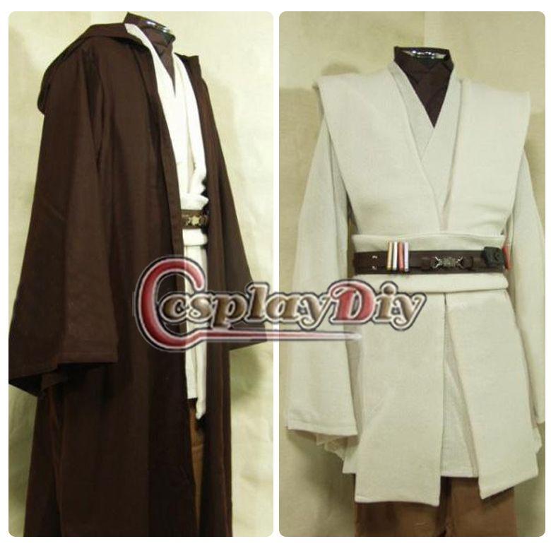 Großhandel Nach Maß Star Wars Obi Wan Kenobi Jedi Tunika Robe Kostüm ...