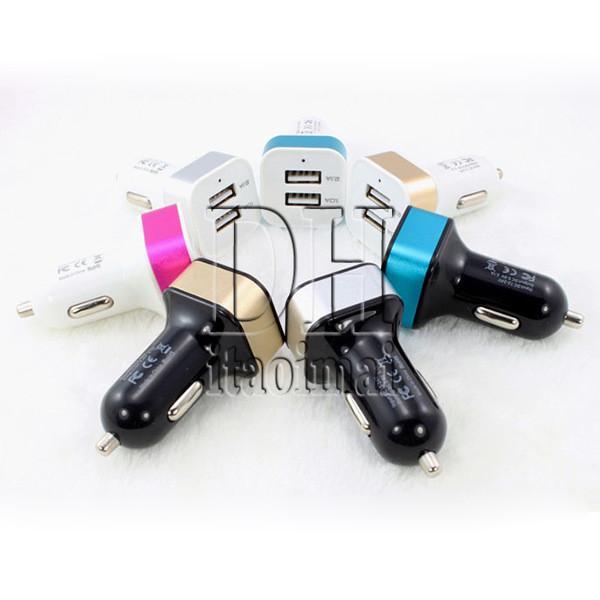 Dual Port USB Auto Ladegerät 5 V 3.1A Mini Universal Adapter Für Samsung Iphone 5 6 s Handy MP4 Player Smartphone DHL