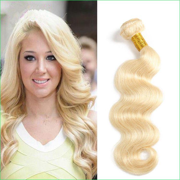 Brazilian Body Wave 613 Hair Weaving Extension100g 8 30 Platinum