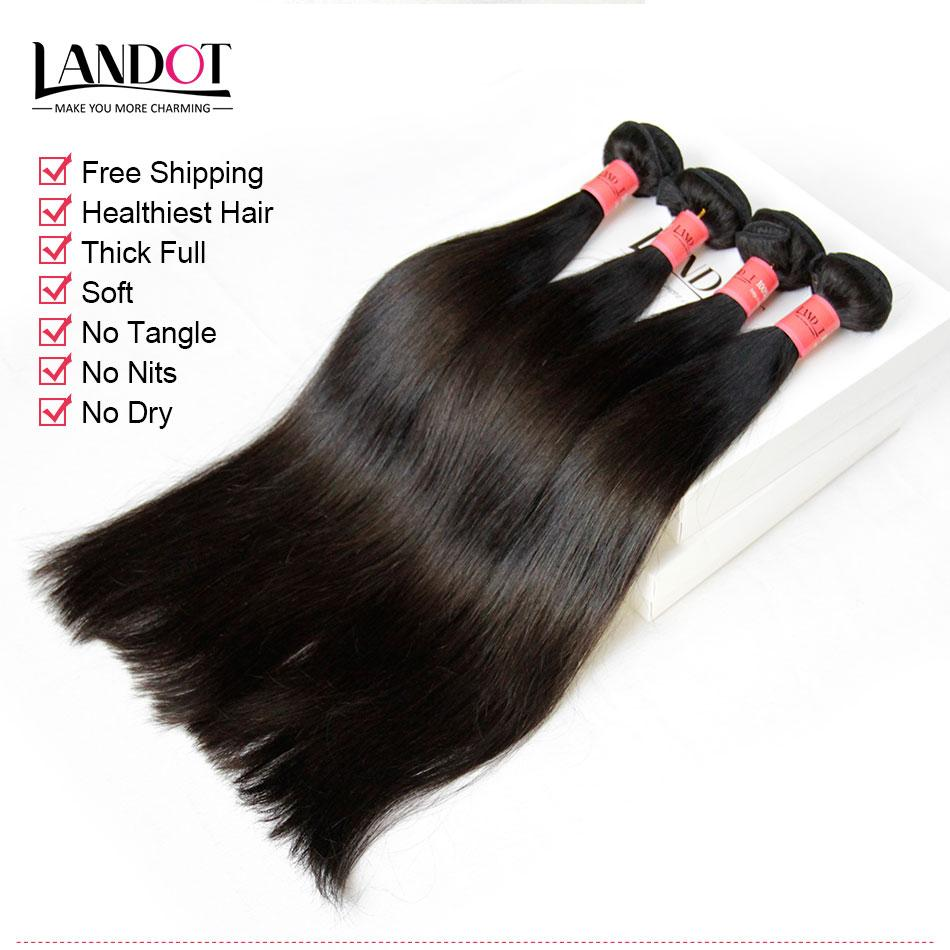 Unprocessed 8A Peruvian Malaysian Indian Brazilian Straight Virgin Remy Human Hair Weave Extensions 10 Bundles 1KG Natural Black Color