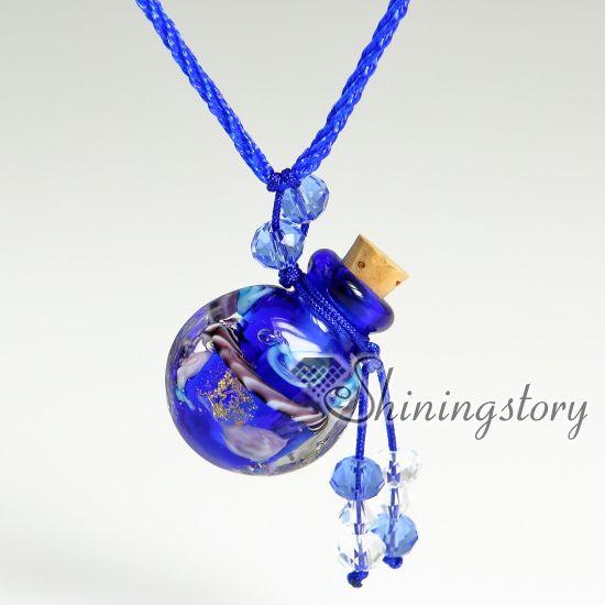 aromathérapie bijoux parfums fait à la main en verre huiles essentielles bijoux verre de murano bijoux pendentif parfum diffuseur parfum vintage b
