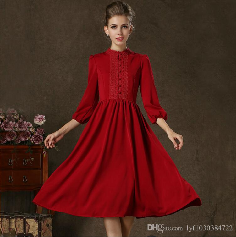 Red Vintage Prom Dresses_Prom Dresses_dressesss