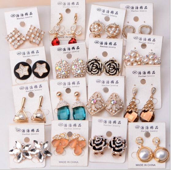 / Mish Style Fashion Stud Earrings Borchie unghie gioielli regalo artigianale EA016 *