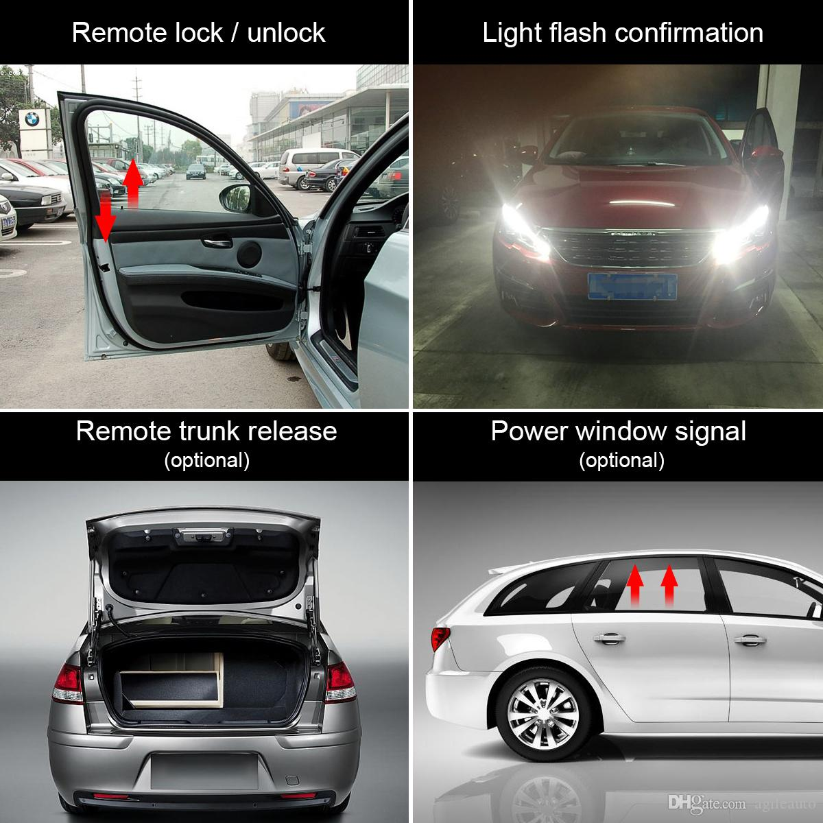 12V Car Alarm System Vehicle Keyless Entry System with Remote Control & Door Lock Automatically for KIA CAL_10B