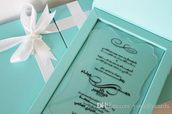 Pocketfold Wedding Invitations Wholesale: Unique Tiffany Blue Keepsake Wedding Invitations, Die Cut