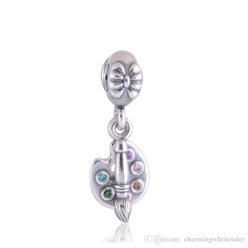 2dee07533 2019 Makeup Brushes Charms Beads 925 Sterling Silver Fits For Pandora  Jewelry Style Bracelets Lw366 From