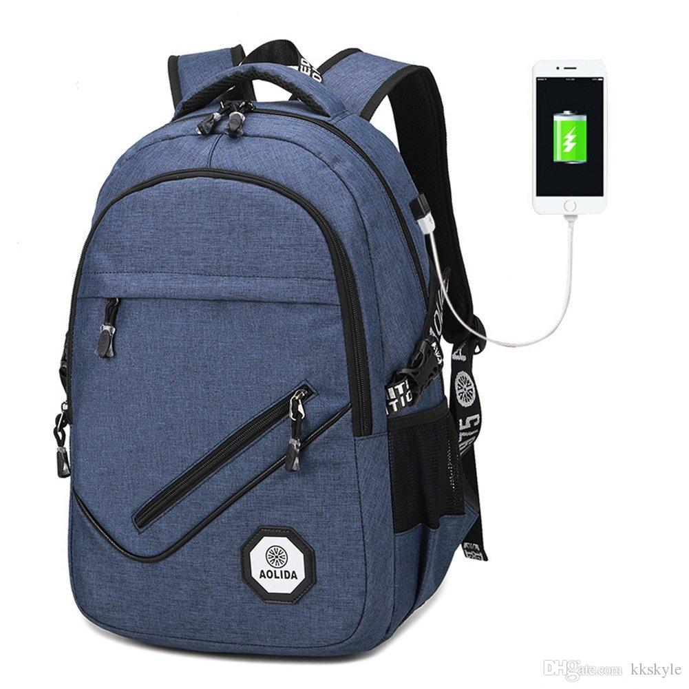 Business Laptop Backpack,Casual Schoolbag with USB Charging Port,Travel Bag for Men