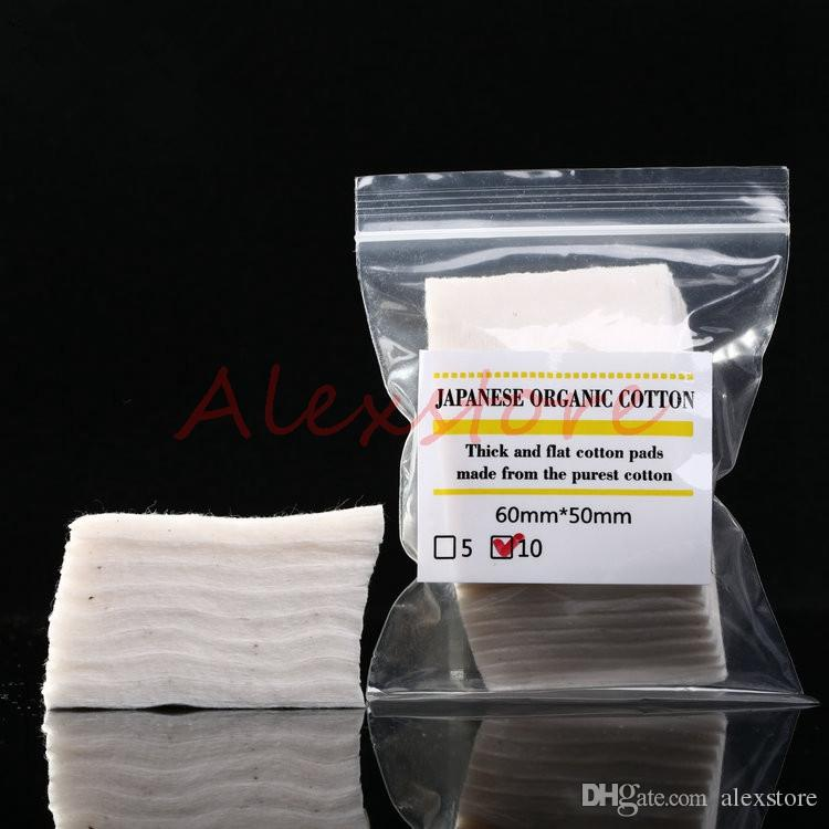 Mini package Authentic Japanese pure organic cotton Wicks cottons fabric japan from MUJI For DIY RDA RBA Atomizer Ecig Coil DHL