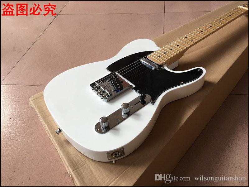 Quente!!! guitarra branca do tel, 22 trastes bordo Fingerboard chinês tl guitarra, guitarra elétrica de alta qualidade