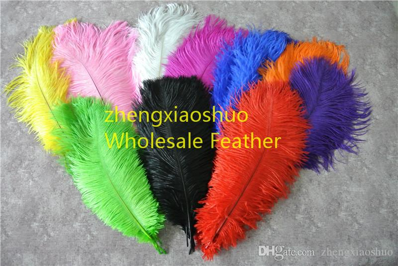 Wholesale /ロット10-12インチダチョウ羽ウェディングセンターピースウェディングパーティーイベントサプライ装飾羽の装飾