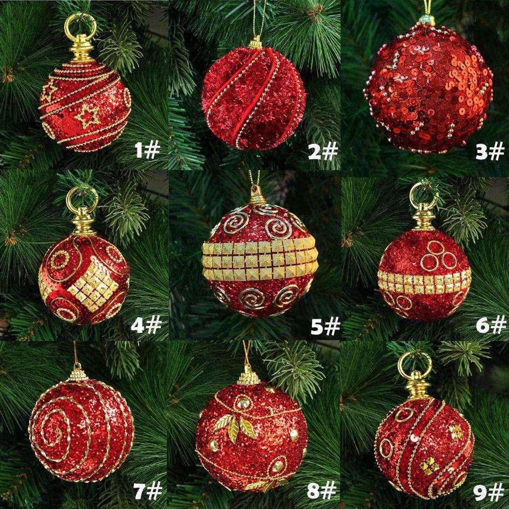 8cm80mm christmas decor luxury round christmas balls wedding xmas tree ornament decoration home office diy festival celebration decorating the house for