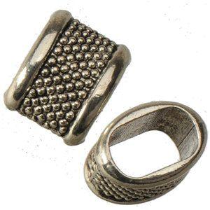 Retro gümüş boncuk charms diy büyük delik bilezikler slayt gevşek alaşım oval yeni toptan el yapımı moda takı aksesuarları 14 * 10mm 100 adet