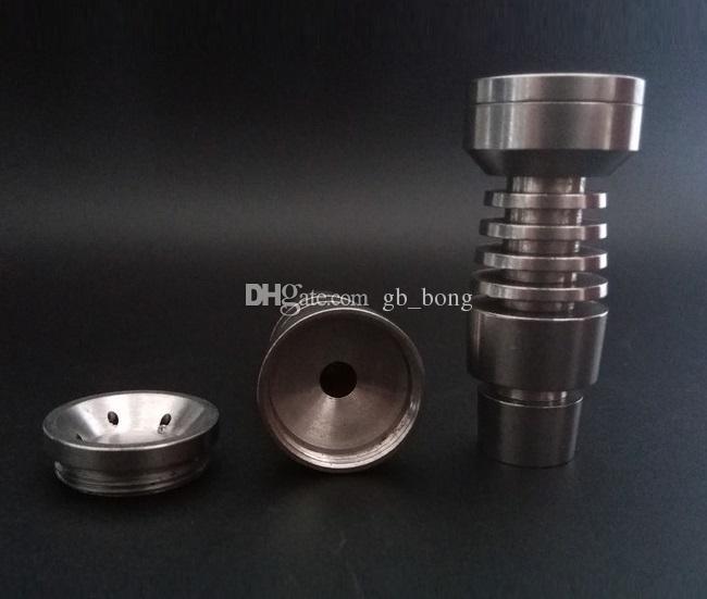 10個ユニバーサルドームレスチタンネイル14 mm 18.8mmデュアル関数Gr2チタン工場Price