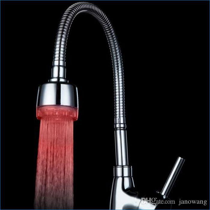 Glow LED-lichtkraan kraanwater, LED kraan licht, felle lichten, enkele kleur, grote koperen kraan LED-verlichting, J14198