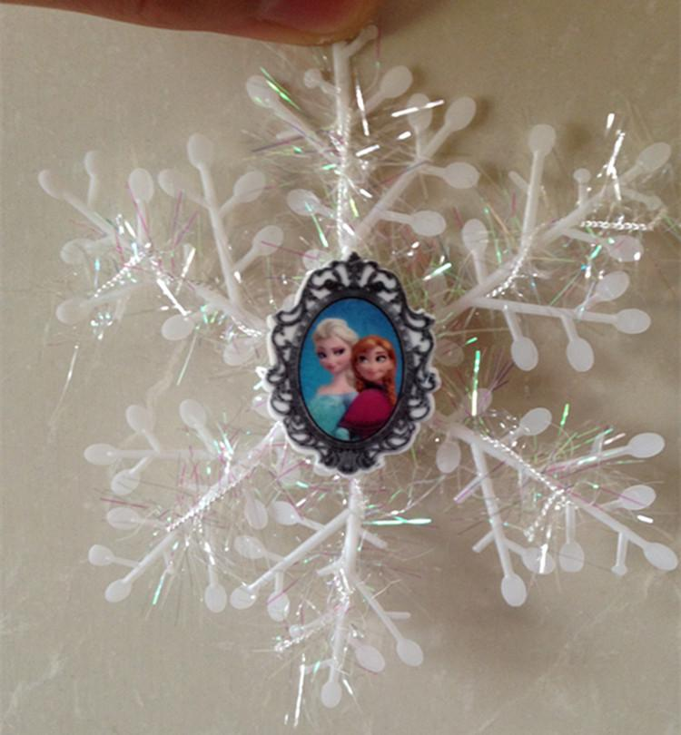 frozen anna elsa snowflakes christmas tree decorations anna elsa olaf snow flakes christmas party decoration xmas tree decor christmas outdoor decorations - Elsa Christmas Decoration