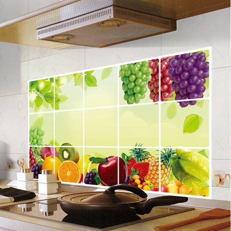 Compre Vid De Uva Frutas Azulejo De La Cocina Ay3027 Adhesivo ...