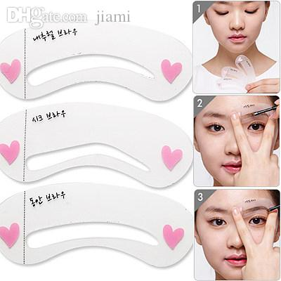Wholesale Fashion Eyebrow Stencils Beauty Brow Drawing Makeup ...