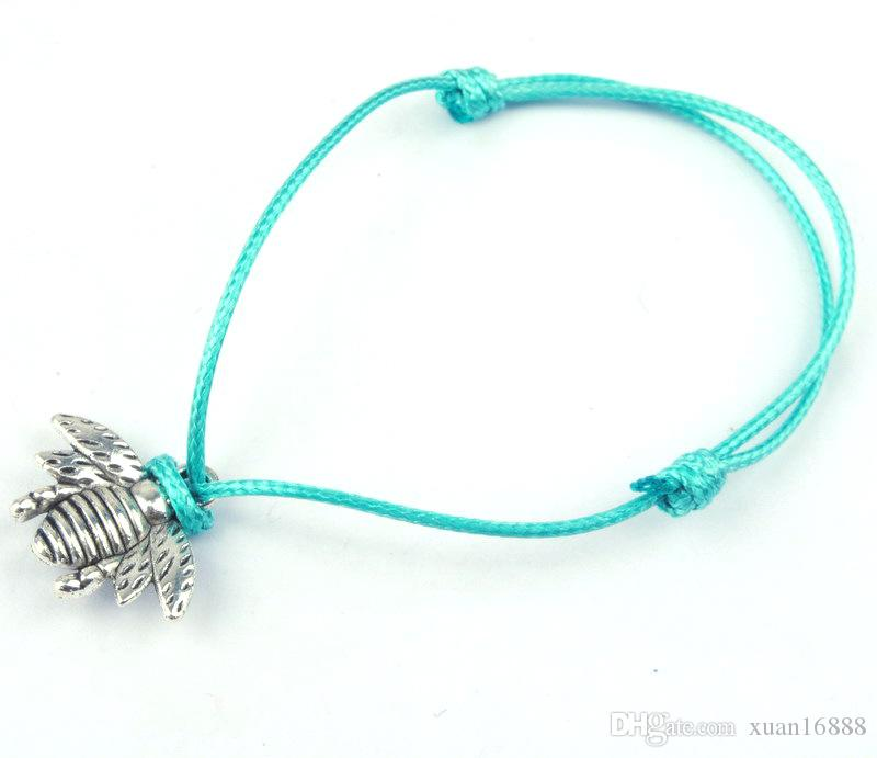 Quente! pulseiras de liga de abelha DIY artesanal jóias corda de cera pulseiras atacado