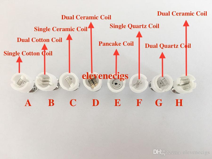 Wax Atomizer Double bobine de cire Double bobine de quartz pour verre Globe Bulb Vape Pen Wax Dry Herb Vaporisateur