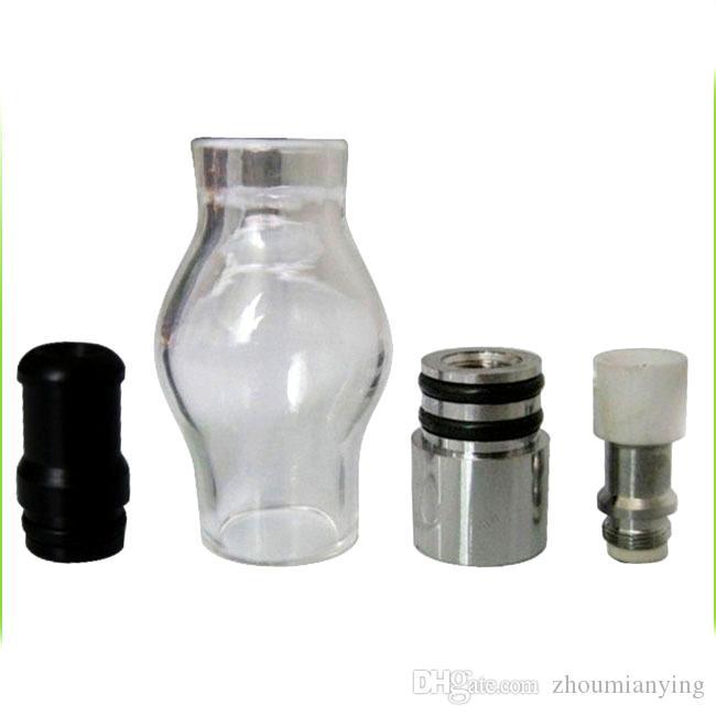 Bulb Estilo Globo do vidro Wax Atomizador Single Dual cerâmica Quartz algodão Bobinas seco Herb vaporizador Pen Dome Atomizador Para Ego T Evod Bateria
