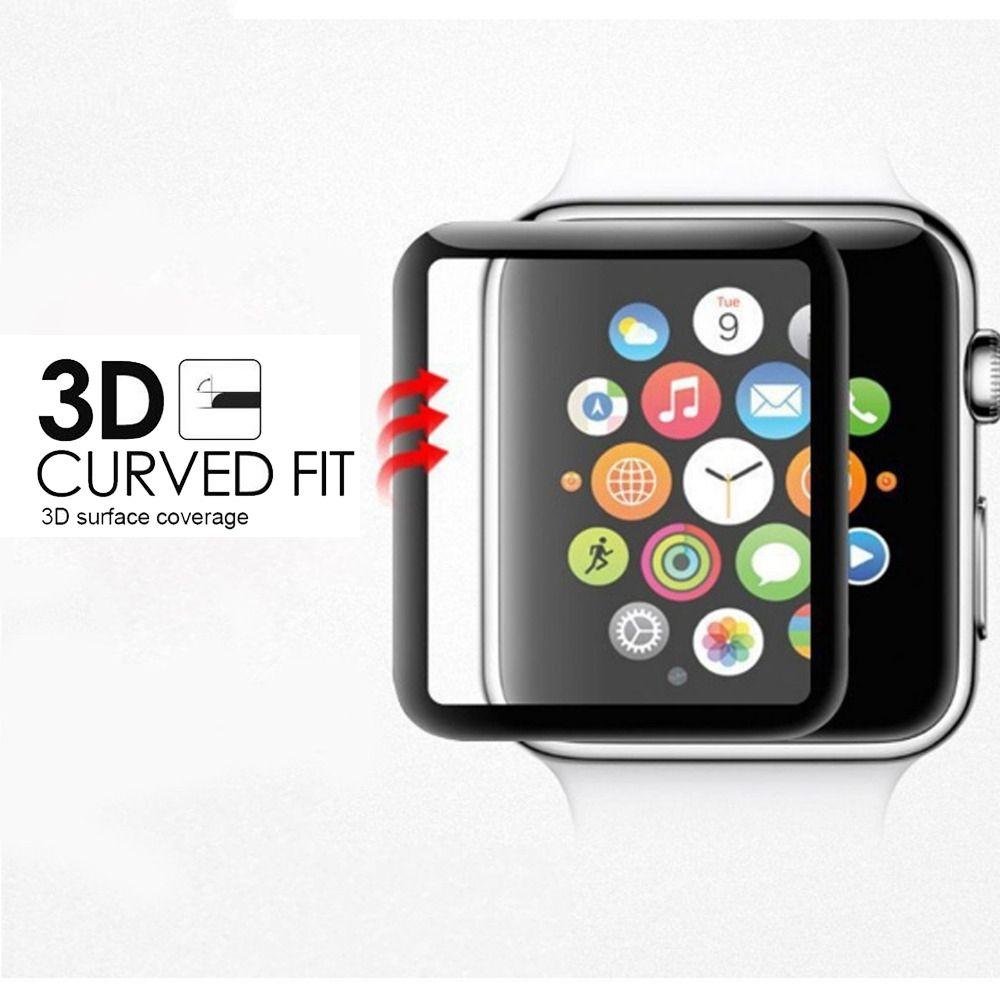 1daf7c1efdd 3d curvo película protetora de vidro temperado de cobertura completa para iwatch  Apple relógio série 1 2 3 38mm 42mm caixa de retalho protetor de tela cheia  ...