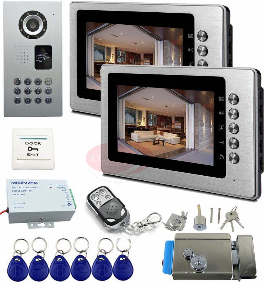 Ip65 Apartments Intercom Rfid Door Intercom Camera Video Door Phone System With Electronic Lock And Wireless Remote Control Kit Cheap Video Door Phone ... & Ip65 Apartments Intercom Rfid Door Intercom Camera Video Door Phone ...