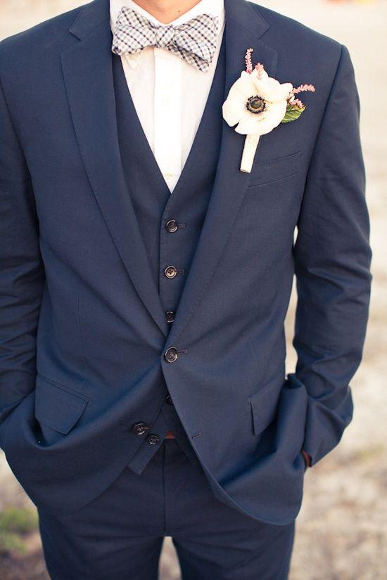 Men Suits Notched Lapel Tuxedos Navy Blue Wedding Suits For Men ...