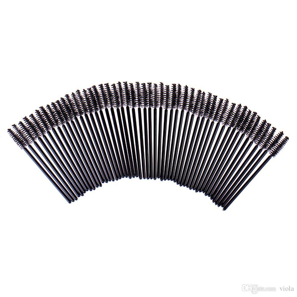 Big promotions ! 25,NEW Black Disposable Eyelash Brush Mascara Wands Applicator Makeup Cosmetic Tool