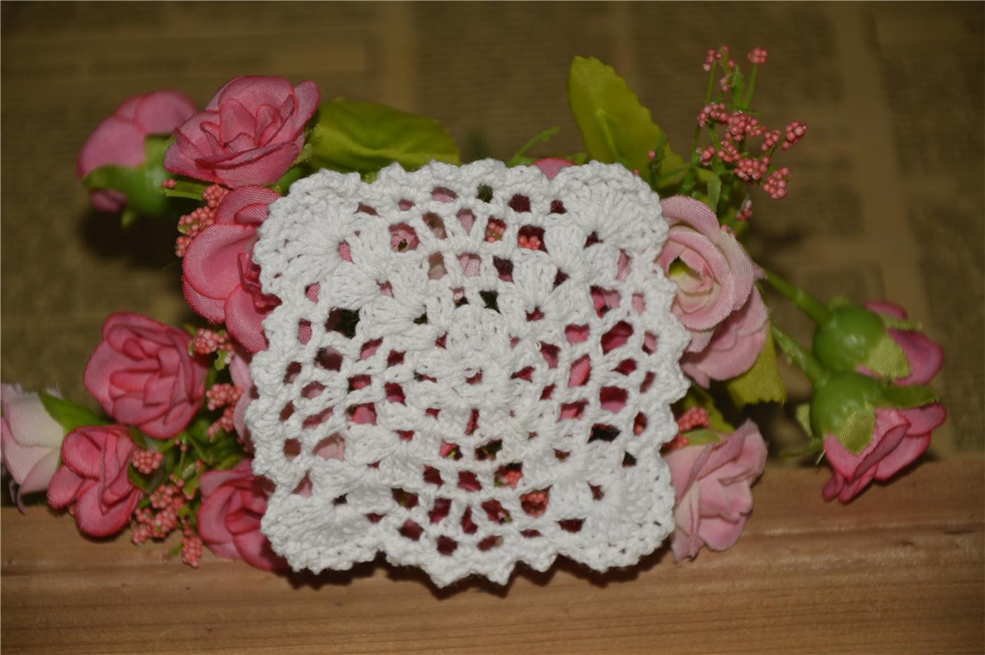 DIY Design Wedding Handmade Crochet Coasters Doily Placemats Crocheted Doilies Size 3 inches / Custom Color _DSC0093