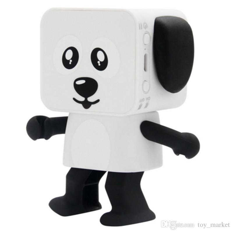 2018 New Bluetooth Speakers Portable Mini Electronic Dancing Dog Robot Toy  Wireless Stereo Speakers For xiaomi samsung huawei apple phoneDHL