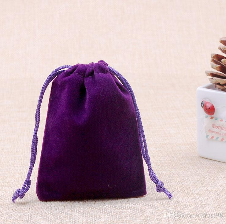 حقيبة مخملية صغيرة برباط الرباط 7x9 سم 2.75 × 3.5 بوصة حزمة من 100 حلقة أقراط أقراط مجوهرات تغليف هدايا