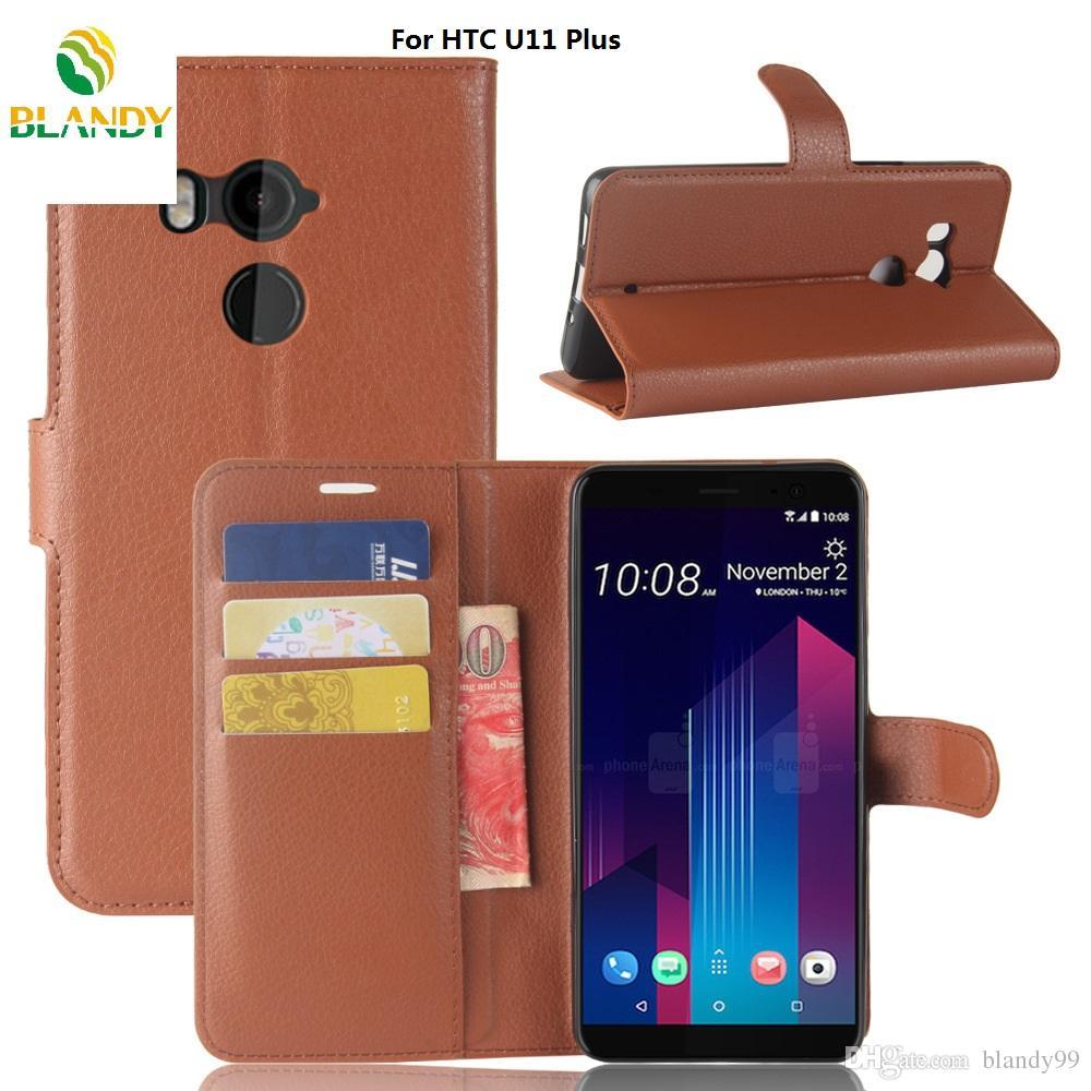 Für HTC U11 plus Litchi Litschi Brieftasche Leder TPU Telefonabdeckung Fall für HTC U11 plus