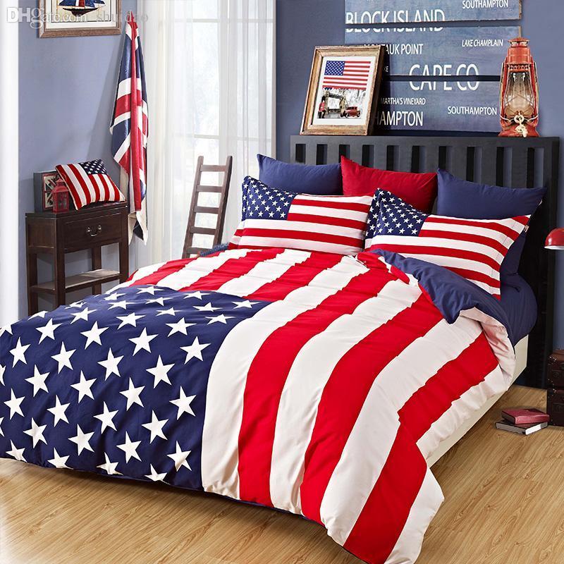 Wholesale 100 Cotton American England Flag Duvet Covet