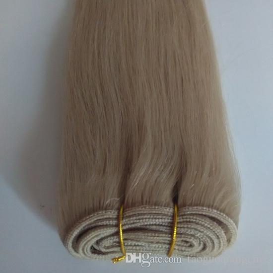 Brasileiro Virgem Do Cabelo Humano substancial 8-30 polegada Tecer Bundles Cor branca Natural Peruano Retas de Seda Em Linha Reta Do Cabelo DHgate