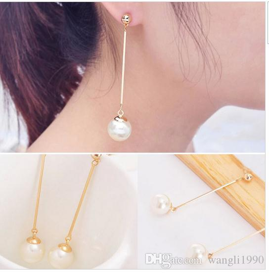 teardrop long by pin earrings pearl drop bridal dangle lizardibridal