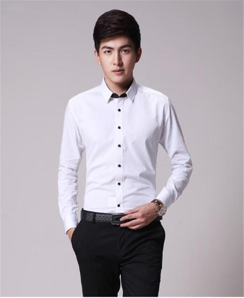 Top Grade Men'S Business Shirt Slim Fit White Shirt Business ...
