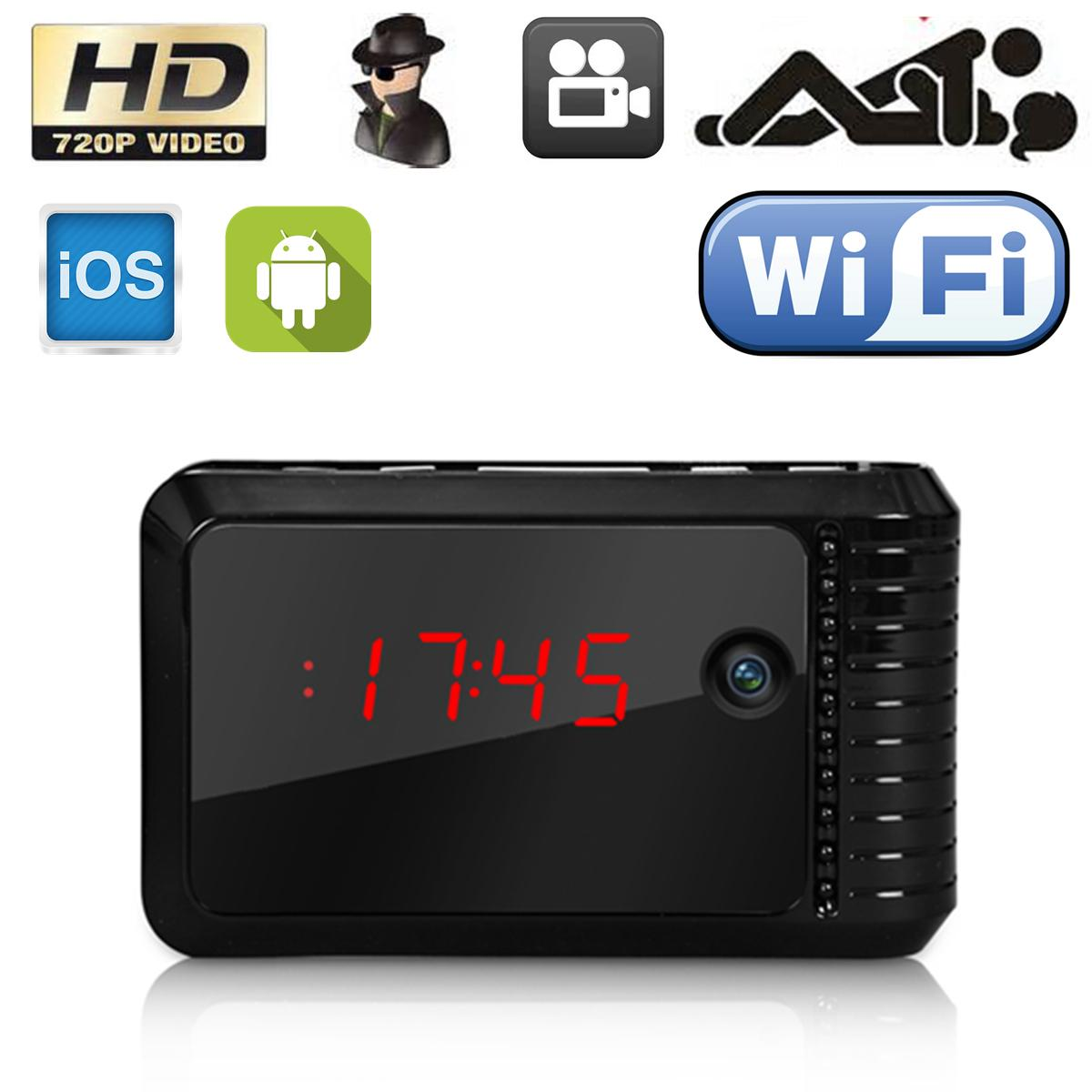 Wireless Wifi Ip Hd Spy Camera Night Vision Clock Dv Dvr Hidden ... for Mini Spy Camera For Iphone  131fsj