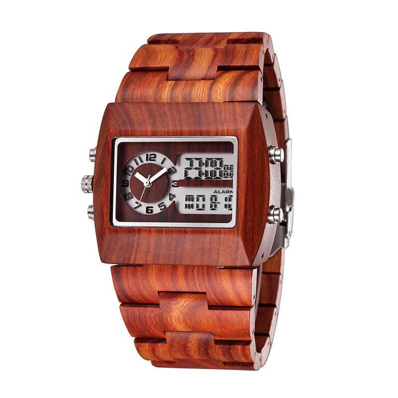 japan qurzt watch with calendar friendly product eco watches function sandalwood new detail