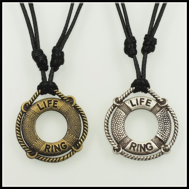 2016 Trendy Nautical Theme Life Ring Pendant Necklace Fashion ...