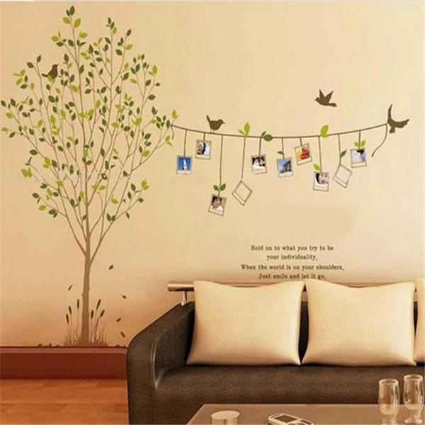 Fashion Design Photo Tree Wall DIY 3D vinyl wall stickers living room sofa vintage poster wall art decals home decoration