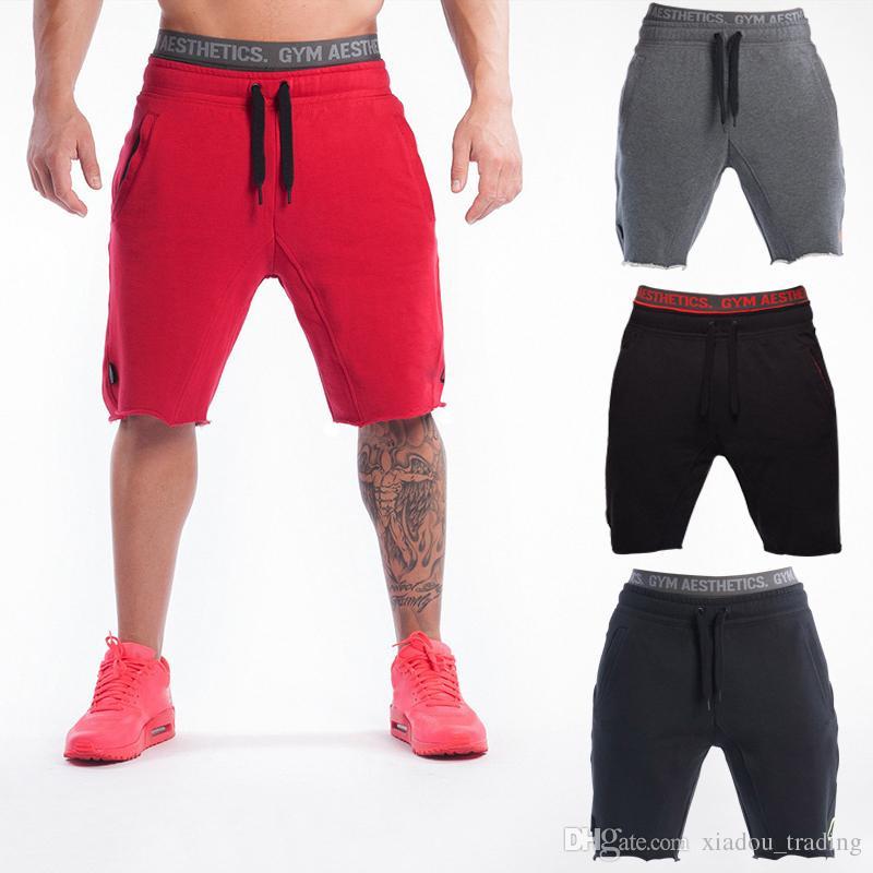 Compre Hombre Deportes Pantalones Cortos Muscle Brothers GYM Algodón Al  Aire Libre Running Pantalones Cortos De Fitness Transpirable Casual  Pantalones ... beb3320f24f