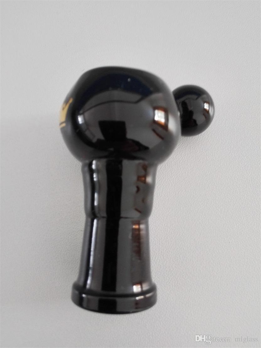 Yeni 14.4mm veya 19mm kadın veya erkek tüp cam borular şeffaf mor siyah cam sigara aksesuarları