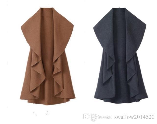 /Hot Sale Women's Fashion Wool Coat, Ladies' Noble Elegant Cape/Shawl. ladies poncho wrap scarves coat 2017