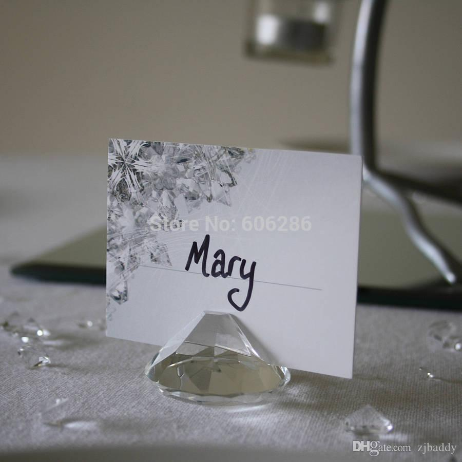Wedding Party Table Decoration Diamond Crystal Place Card Holder