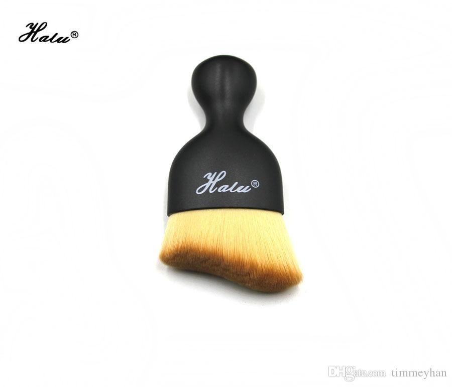 Halu Brands Single Contour Foundation Pinceau Forme S Crème Maquillage Pinceaux Poudre Libre Poudre Pinceau Multifonctionnel Pinceaux De Maquillage