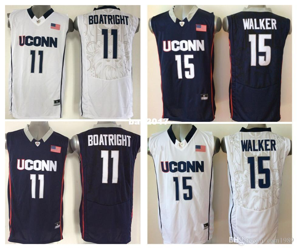 68bcb68ecdbd 2018 new uconn huskies men jersey 15 kemba walker 11 ryan boatright mens  college football jerseys